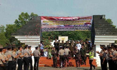 Polres Bangkalan memberikan kejutan kepada Kodim 0829/Bangkalan